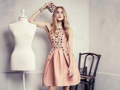 La robe rose poudre