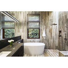 Contemporary bathroom with marble tile on floor and wall, pretty or nay? #rumahkubathroom