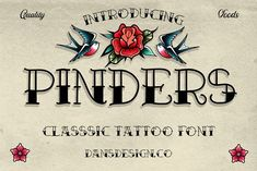 Vintage Logo Design, Vintage Designs, Classic Tattoo, Clothing Brand Logos, Clipart, T Shirt, Tattoos, Letters, Illustrations