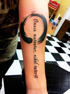 Enso ....the latin means- everything changes, nothing perishes/ nothing is truly lost