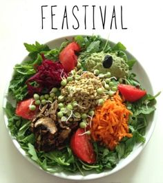thegloriousvegan: Raw Vegan Salad Platter (Click image for recipe)