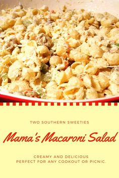 This macaroni salad is one of my absolute favorites. It's a family recipe handed down through our family for years. Delicious and simple. Great for BBQs and Picnics. Tuna Macaroni Salad, Hawaiian Macaroni Salad, Pasta Salad, Macaroni Salad Ingredients, Southern Recipes, Southern Food, Southern Comfort, Cooking Hard Boiled Eggs, Side Dishes For Bbq