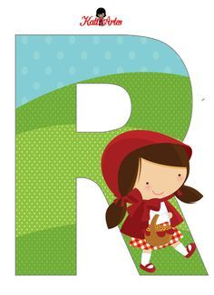 EUGENIA - KATIA ARTES - BLOG DE LETRAS PERSONALIZADAS E ALGUMAS COISINHAS: Chapeuzinho Vermelho Alfabeto Fancy Letters, Letters And Numbers, Fairy Tale Theme, Fairy Tales, Red Riding Hood Party, Little Red Ridding Hood, Baby F, Alphabet For Kids, Festa Party