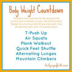 Fitness Friday: Bodyweight Countdown