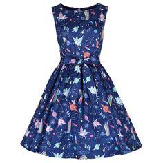 Audrina Space Unicorn Swing Dress | 1950's Style Fashion - Lindy Bop