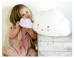 A Little Lovely Company, Leuchte, Big Cloud Lamp, Touch-Nachttischlampe