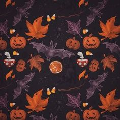 "254 gilla-markeringar, 7 kommentarer - Julia Lundgren (@lambidy) på Instagram: """"October pattern"", 2017. I'm working on two big, way more fun pieces to post closer to halloween,…"""