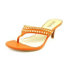 dd68dff08e58c5 Michael Kors Alexi Thong Womens Size 8 Orange Dress Sandals Shoes     Click  image
