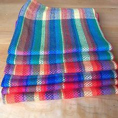 Ravelry: doreenmacl's Stash busting tea towels Picnic Blanket, Outdoor Blanket, Tea Towels, Ravelry, Beach Mat, Hand Weaving, Mad, Dish Towels, Hand Knitting