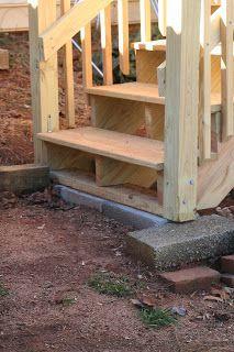DIY Steps for Amateurs--how we built steps.