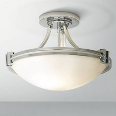 Master Bathroom Ceiling Light Possini Euro 16 Wide Chrome Ceiling Light