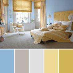 Dormitorio celeste Bedroom Colour Palette, Bedroom Colors, Color Celeste, Playroom Organization, Beautiful Fairies, French Decor, Bedroom Wall, Decoration, My Dream Home