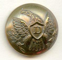 2-piece US Dragoons uniform button--Civil War