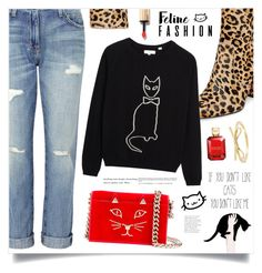 """The Cat's Meow: Feline Fashion"" by marina-volaric ❤ liked on Polyvore featuring Steve Madden, Current/Elliott, Charlotte Olympia, Michael Kors and felinefashion"