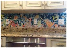 colorful kitchen backsplashes tropical' - Google Search