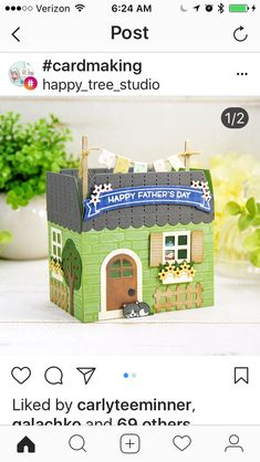 3d Paper Projects, Paper Crafts, Diy Gift Box, Gift Boxes, Cute Little Houses, New Home Cards, Gable Boxes, Bazaar Crafts, Pop Up Box Cards
