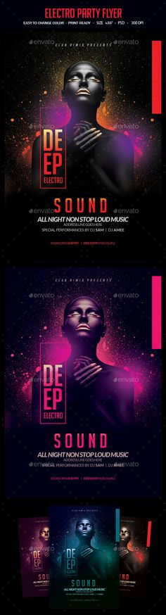 Electro Party Flyer Template PSD. Download here: http://graphicriver.net/item/electro-party-flyer/15534227?ref=ksioks