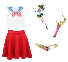 """""""My favorite anime Sailor Moon"""" by icetea15 ❤ liked on Polyvore featuring Bandai, Usagi and Pilot"""