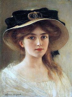 Portrait of a Young Girl (1900s), by Albert Lynch