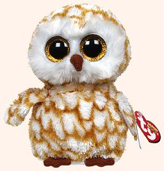 Swoops, Ty Beanie Boos barn owl, reference information and photograph. Ty Stuffed Animals, Plush Animals, Ty Beanie Boos, Ty Peluche, Rare Beanie Babies, Ty Babies, Ty Toys, Animal Pillows, Stuffed Animal Patterns