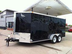 8.5 x 20 V-nose Lark Car Hauler Enclosed Cargo Trailer Oklahoma Hitch It Trailer Sales, Trailer ...