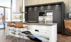 Inspiraationa vesi ja rantakalliot. A la Carte -keittiöt, Graffio. | #keittiö #kitchen