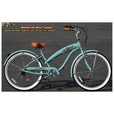 Fito Modena Sport 7 speed woman Beach Cruisers Bikes Sky Blue
