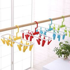 Bathroom Hardware Home Improvement 12pcs Colorful Clothespins Hook Laundry Clips Multipurpose Bra Socks Hanger Pegs M10 Dropship Neither Too Hard Nor Too Soft