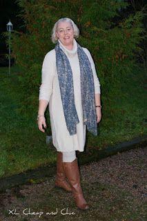 XL Cheap & Chic: Neulemekossa - Wearing a knitted dress...