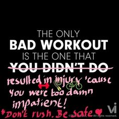 Workouts CAN be harmful if you don't do it right, ease into it and don't give up! -9 Fitspiration Posters Corrected