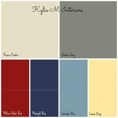 gray and blue paint colour palette for boys bedroom-links to full blog entry about painting kids rooms (boy and girl)