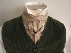 76in Cravat, in tan.  A Regency ascot tie, extra long for big and tall gentlemen. $12.00, via Etsy. Cravat Tie, Ascot Ties, Regency Dress, Character Outfits, Dandy, Historical Clothing, Costume Design, Victorian Fashion, Aesthetic Clothes