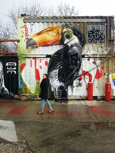 Street artist: Bordalo II,   Urban Spree Feb 2016, Friedrichshain district, Berlin