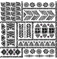 Tribal vintage ethnic pattern seamless vector - by transia on VectorStock Ethnic Patterns, Textile Patterns, Textile Prints, Print Patterns, African Patterns, Style Patterns, Geometric Patterns, Drawing Hands, Line Drawing
