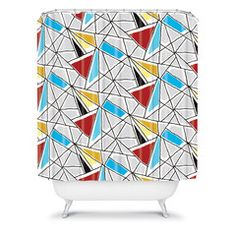 Karen Harris Shattered In Bauhaus Shower Curtain