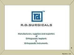 CD catalog design for surgical instruments