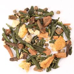 Our smooth China green tea with a chakra warming spice combination. Cardamom, clove and ginger aromas, clean and refreshing flavor, soothing finish with a balanced astringency. The natural sweetness a Chai, China Green Tea, Spice Combinations, Coffee Drinks, Drinking Tea, Asparagus, Green Beans, Tea Pots, Spices