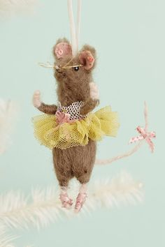 brava mouse ornaments from Anthropologie - more holiday inspiration at jojotastic.com