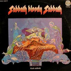 Black Sabbath - Sabbath Bloody Sabbath, 1973 (back cover) Greatest Album Covers, Rock Album Covers, Classic Album Covers, Lp Cover, Cover Art, Musica Disco, Heavy Metal Rock, Metal Albums, Great Albums