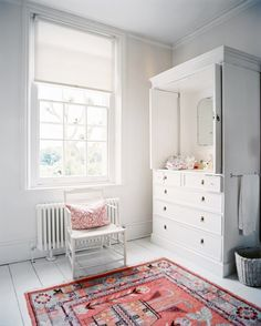 Armoire-patterned-changing-station - Home Decorating Trends - Homedit White Armoire, Antique Armoire, Tv Armoire, White Hutch, Painted Armoire, Baby Changing Station, Baby Changing Tables, Bedroom Photos, Idee Diy