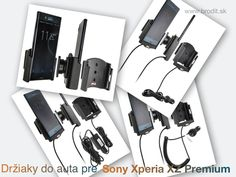 Nové držiaky do auta pre Sony Xperia XZ Premium. Pasívny držiak Brodit pre pevnú montáž v aute, aktívny s CL nabíjačkou, s USB alebo s Molex konektorom.