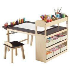 Kids art table- maybe give them a corner in my craft room??