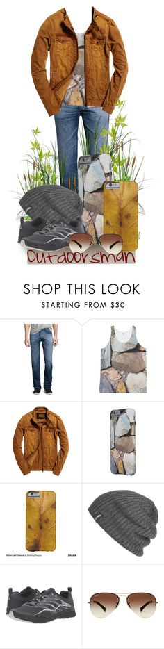 """Outdoorsman"" by bethany-ransom ❤ liked on Polyvore featuring AG Adriano Goldschmied, WALL, Superdry, Samsung, Outdoor Research, Merrell, Ray-Ban, men's fashion, menswear and zazzle"
