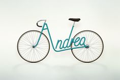 Paris-based art director Juri Zaech created Write a Bike, a lovely 2010 conceptual project in personalized name bicycle frames.