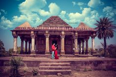 "Photo from album ""pre wedding shoot"" posted by photographer Nexart Photography Best Location, Wedding Shoot, Taj Mahal, Saree, Sky, Couple, Indian, Album, Weddings"
