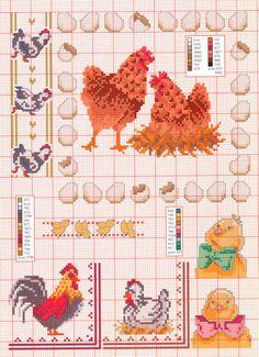 Gallery.ru / Фото #34 - на салфетки и скатерти - irisha-ira Cross Stitch Bookmarks, Cross Stitch Books, Cross Stitch Needles, Cross Stitch Bird, Cross Stitch Animals, Cross Stitch Charts, Cross Stitch Designs, Cross Stitching, Cross Stitch Embroidery