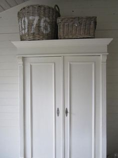 Love the weathered white woods and armoire. House Inspiration, Decor, Furniture, Home, White Painted Furniture, Redo Furniture, Armoire, Home Decor, Room