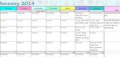 2014 Blogging Calendar | Menu Planner  http://foodbetterbegood.blogspot.in/2014/01/2014-blogging-calendar-menu-planner.html