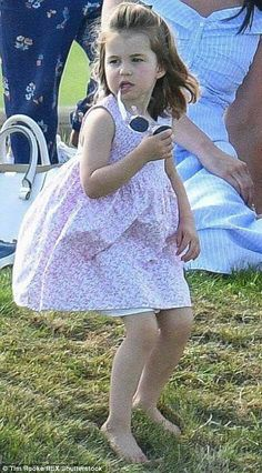 Princess Charlotte at the Beaufort Polo Club. June 10 2018