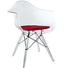 Cool acrylic Eames DAW Armchair reproduction. Available at www.modern-source.com